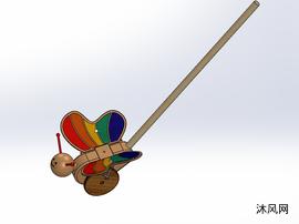 拉扯木玩具的蝴蝶