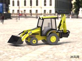 推土机挖掘设计模型