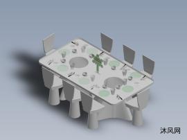 餐桌的模型