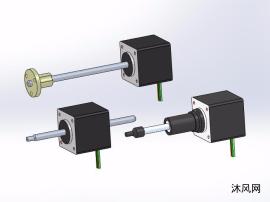 3款35000系列直线步进电机模型