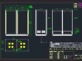 三个电控柜CAD图
