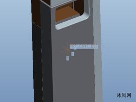 智能垃圾桶三维模型图纸