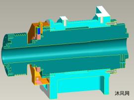 带主轴分度定位的箱体模型