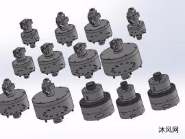 13款RK附逆止阀中实短型回转油缸模型