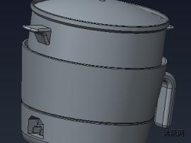 电蒸煮锅模型