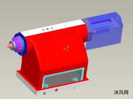 液压尾座三维模型