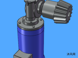 蜗轮减速机三维图