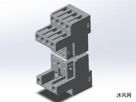 垂直連接的雙層甲板終端模型