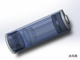 自燃火箭發動機SW三維模型設計圖