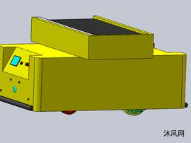 舵轮滚筒AGV模型