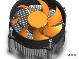 cpu风扇设计图SW模型