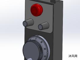 数控手轮SW三维模型设计