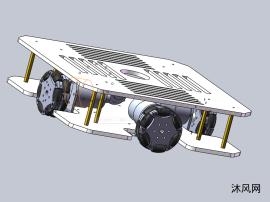 四輪全向輪底盤模型