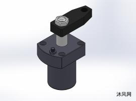7款YZG -SBT 油压上法兰油路板式或调速转角缸