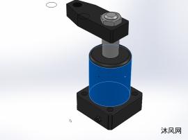 7款 YZG-XB油压下调速转角缸模型