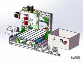 组合机床模型含仿真动画