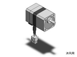 5种PKS-42MM-TS减速机型步进电机模型图