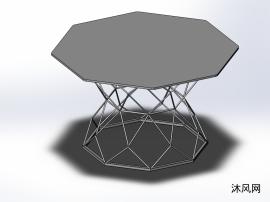 多边形茶几模型设计图