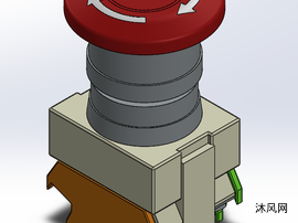 急停按钮模型设计