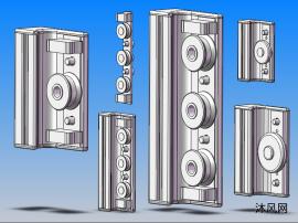 C型轨道轴承座 共6种型号