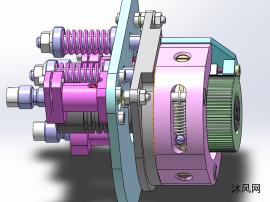 带两轴旋转的激光调节模块