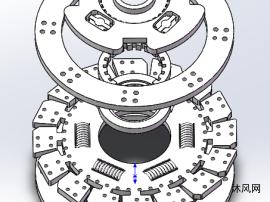 减震摩擦片模型