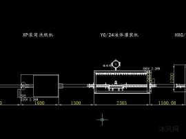 直线式液体灌装回转式轧盖生产线方案图