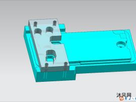 华为Nova系列后壳指纹孔加工治具(含产品模型)