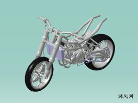 定制双缸摩托车