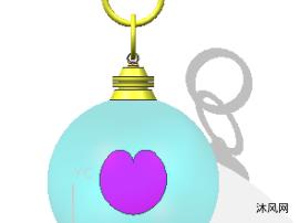 心型透明挂件