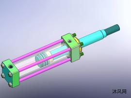 100公称直径液压缸模型