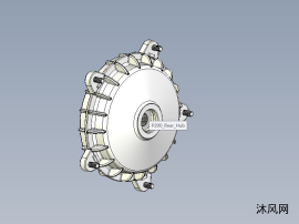 Vespa摩托车后轮鼓刹模型