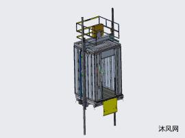 电梯弹簧轮结构轿厢图纸(含所有部件图)