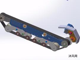 非标齿轮同步带传动机构