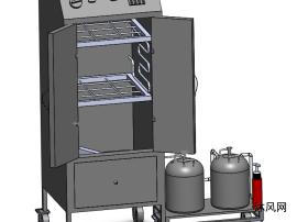 三联动力烤箱模型设计
