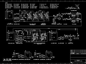 20T/小時超純水生產制備系統流程圖紙英文版