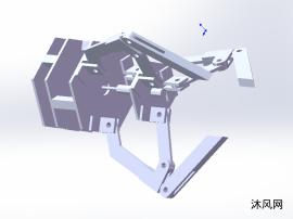 非标定心机械夹爪设计模型