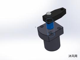 7款 YZG-SB油压上法兰油路板式或调速转角缸