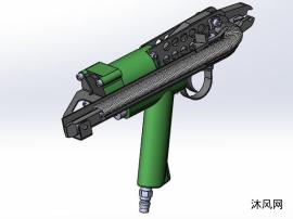 丝网固定C型打钉机模型