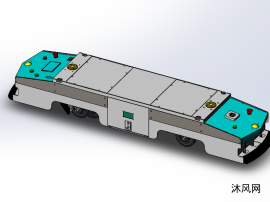 双驱双向潜伏式AGV小车模型