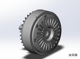 7款EPB突出轴型磁粉制动器模型设计