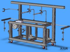 铝型材设备支架模型设计
