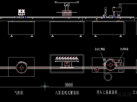 喷雾剂灌装双头上盖旋盖生产线方案图