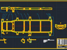 吉利微型车车架设计