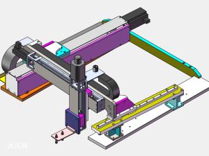 三轴机械手桁架机器人抓取机械臂
