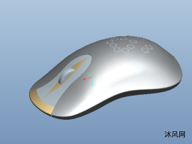 无线鼠标三维模型图纸