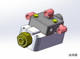 随动阀装配三维图