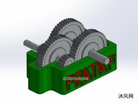 一款齿轮箱模型设计