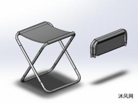 钢管折叠凳模型