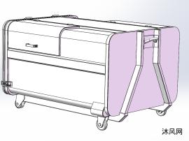 2.5立方钩背式垃圾箱设计图